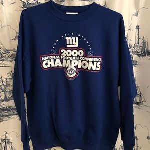 NY Giants 2000 NFC NFL Champions Sweatshirt XL